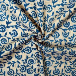 Cotton hand block printed fabrics